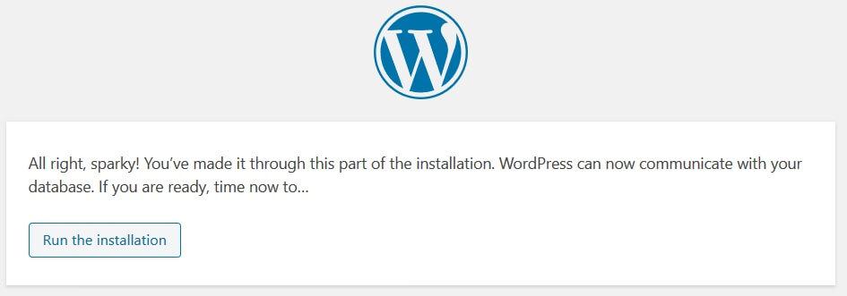 03 wordpress úspešné nastavenie